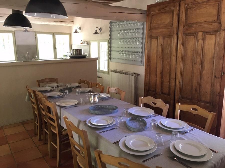 Cuisine du Mas à louer en Luberon