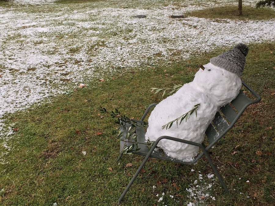 Bonhomme de neige amusant